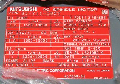 New In Box Mitsubishi SJ-V11-06ZT AC 10233
