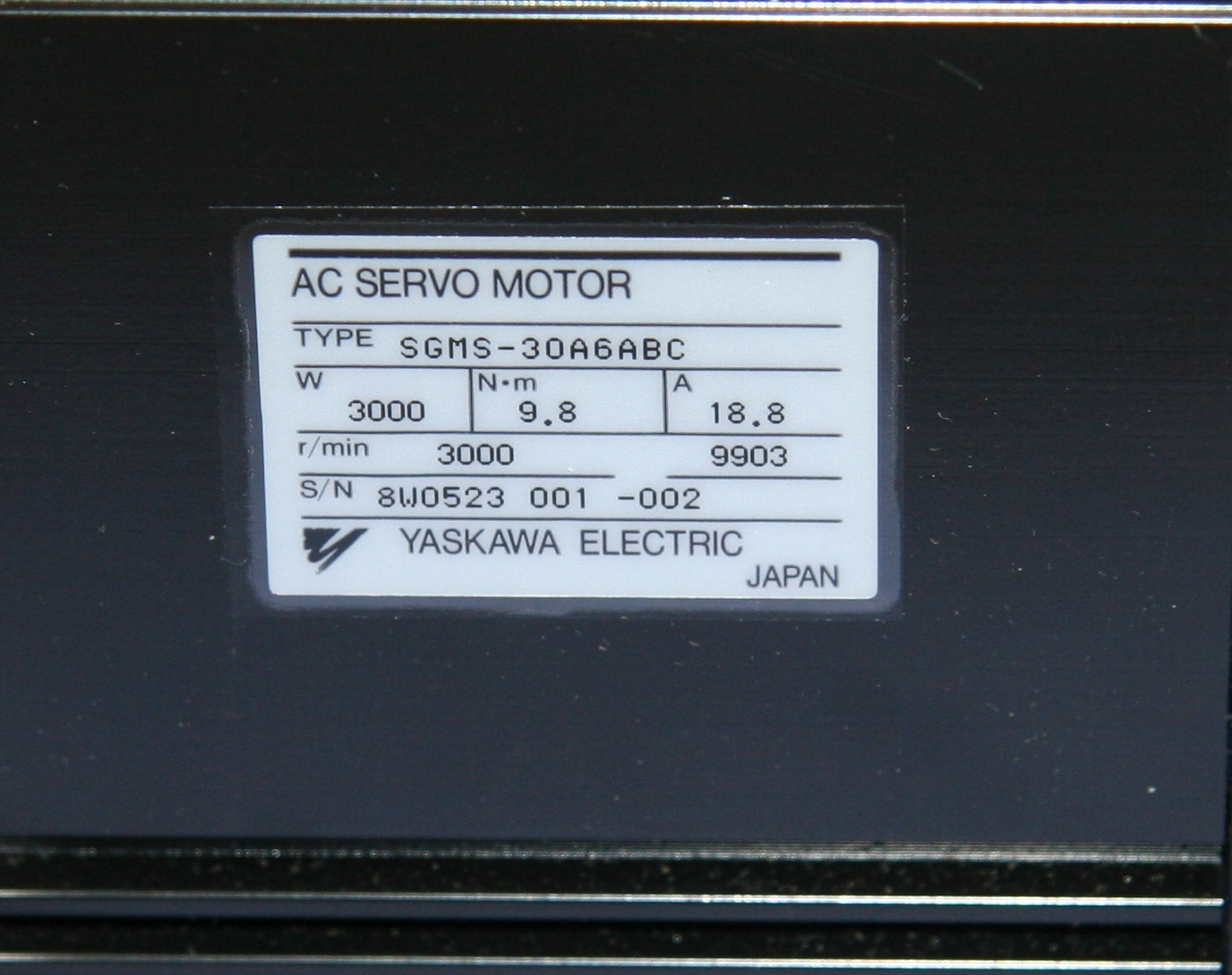 (1) New Old Stock Yaskawa Electric SGMS-30A6ABC AC 10667