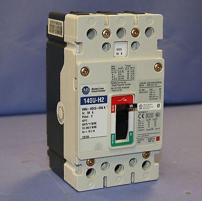 Old Stock Allen Bradley 140U-H2C3-C50A Molded Case Circuit Breaker 50A, 3 Pole