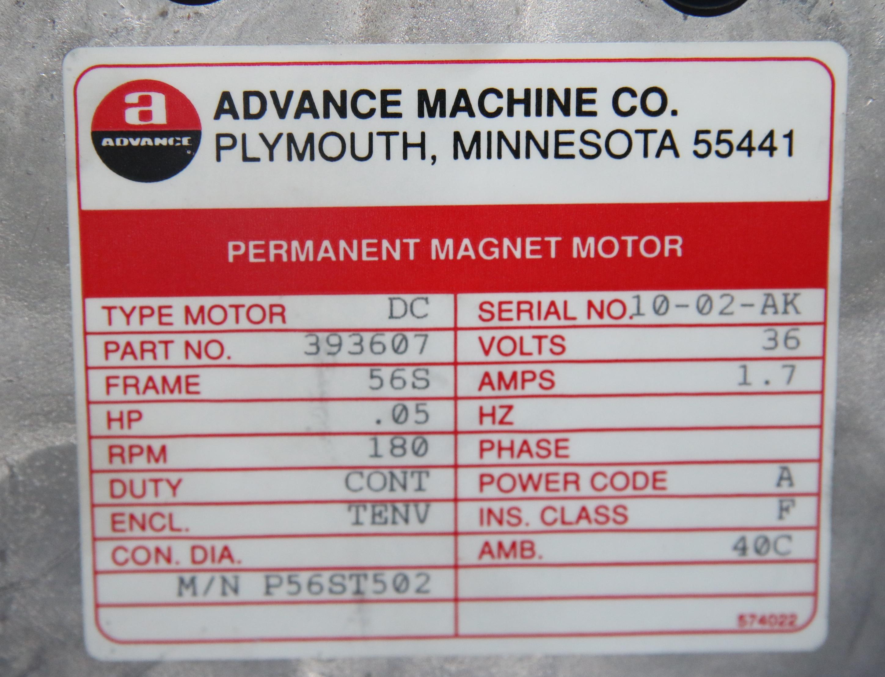 (1) Unused Nilfisk Motor Drive Permanent Magnet Motor Part Number: 56393607 AKA