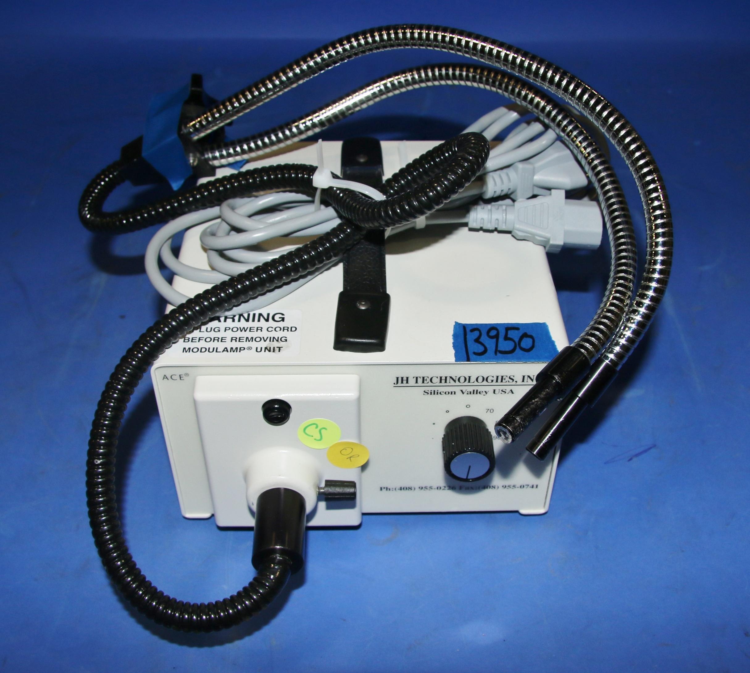 (1) Used JH Technologies 20500/26 Fiber Optic Illuminator With Double Light Wand