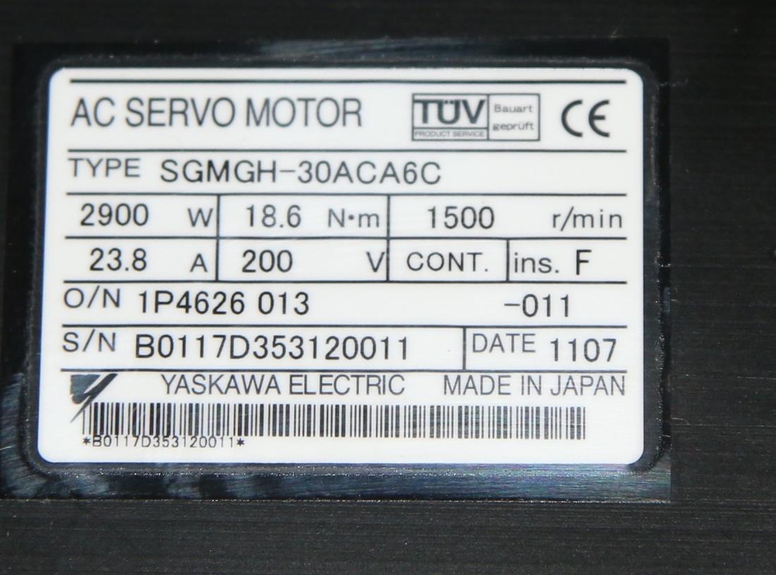 (1) New Yaskawa SGMGH-30ACA6C AC Servo Motor 15013