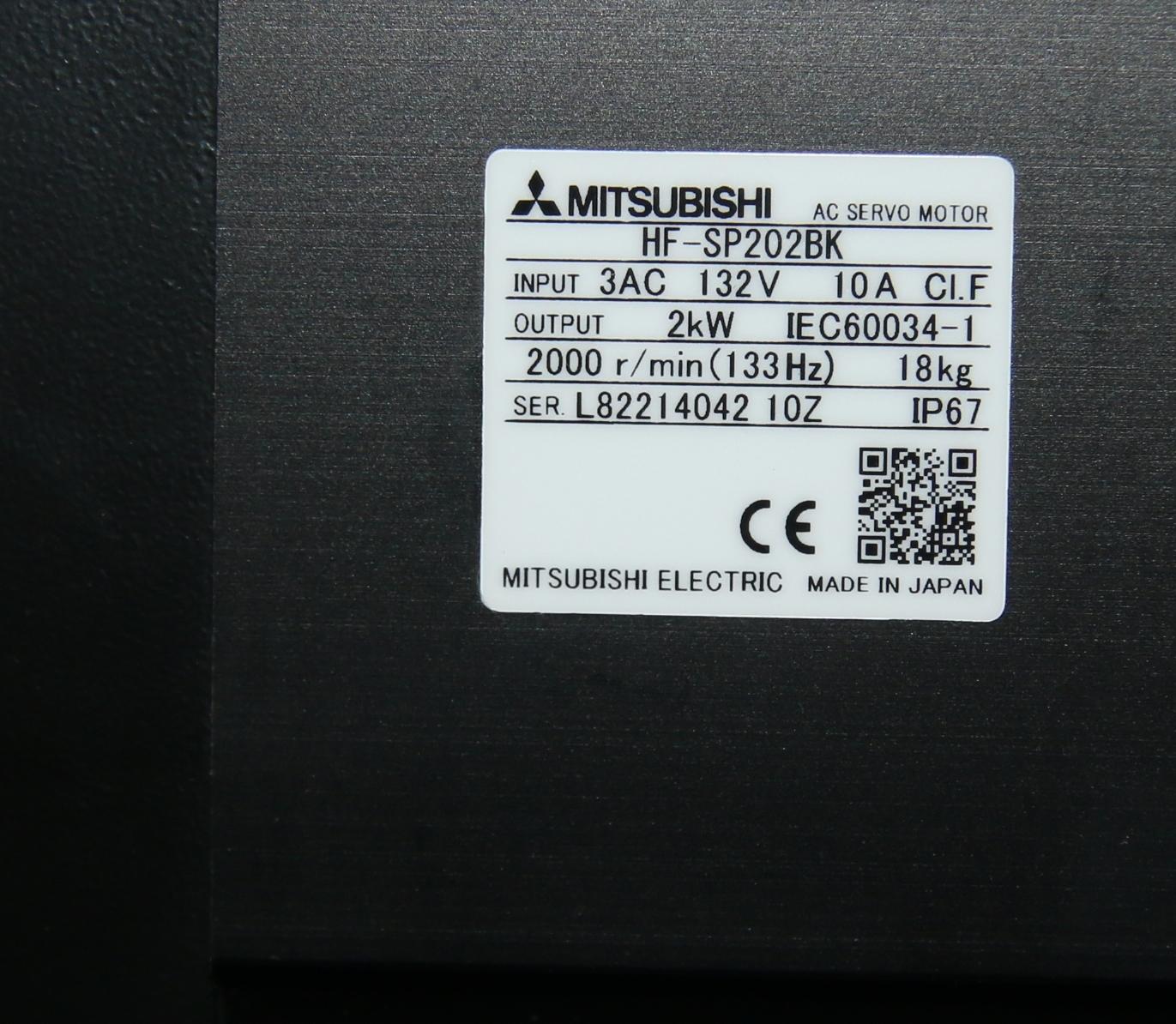 (1) New Mitsubishi HF-SP202BK AC Servo Motor 15116