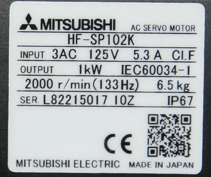 (1)  New Mitsubishi HF-SP102K AC Servo Motor 15123