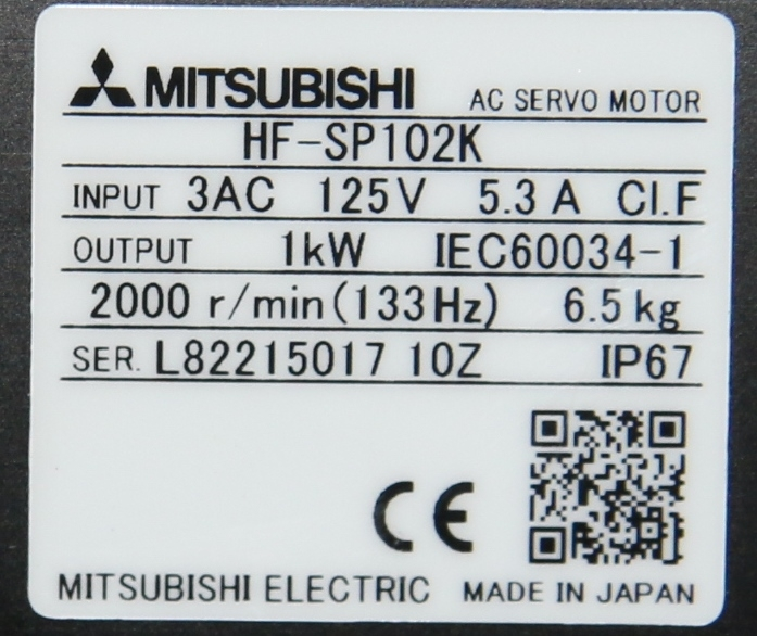 (1)  New Mitsubishi HF-SP102K AC Servo Motor 15141