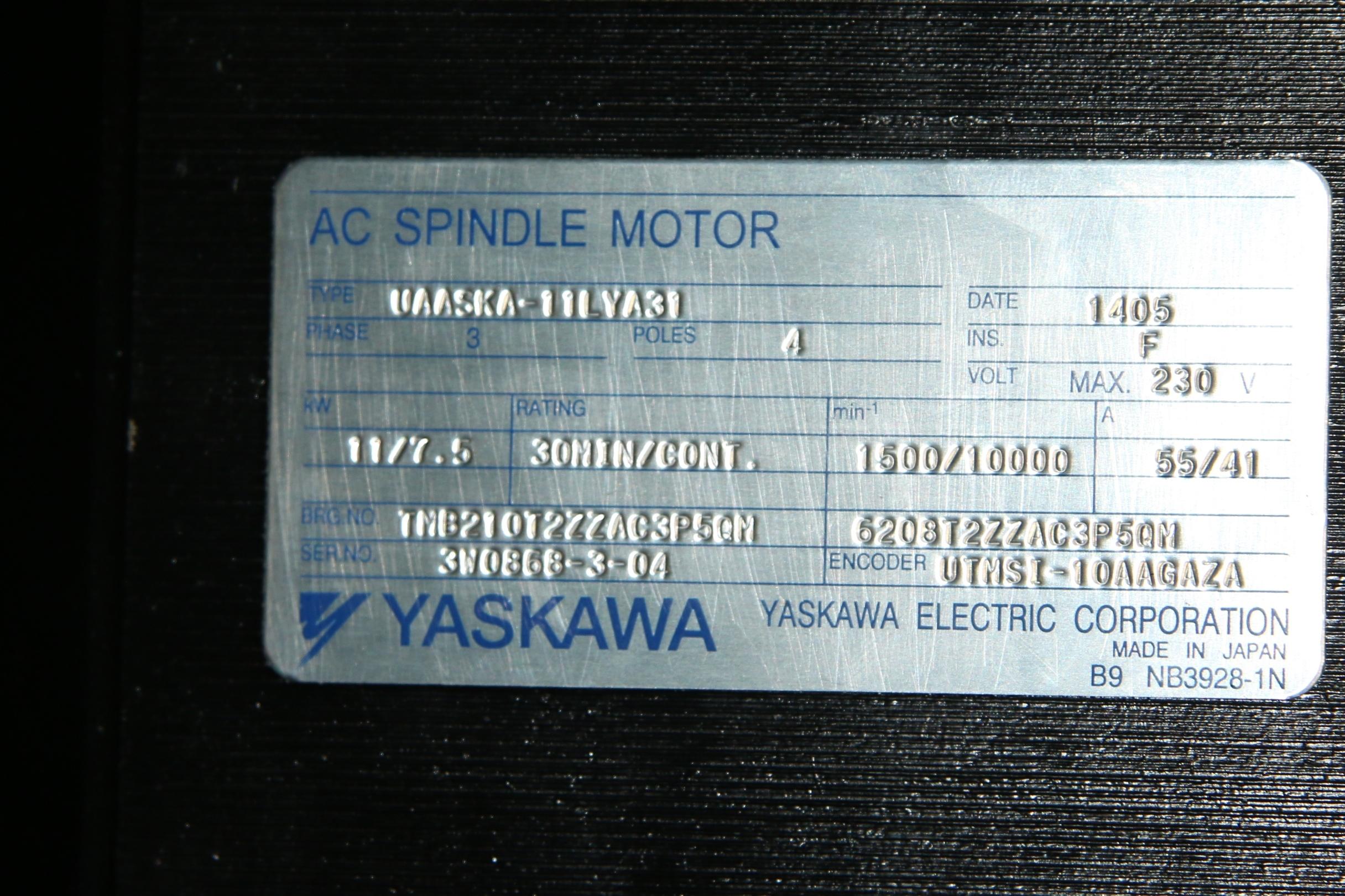 (1) New Yaskawa UAASKA-11LYA31 AC Spindle Motor 15157