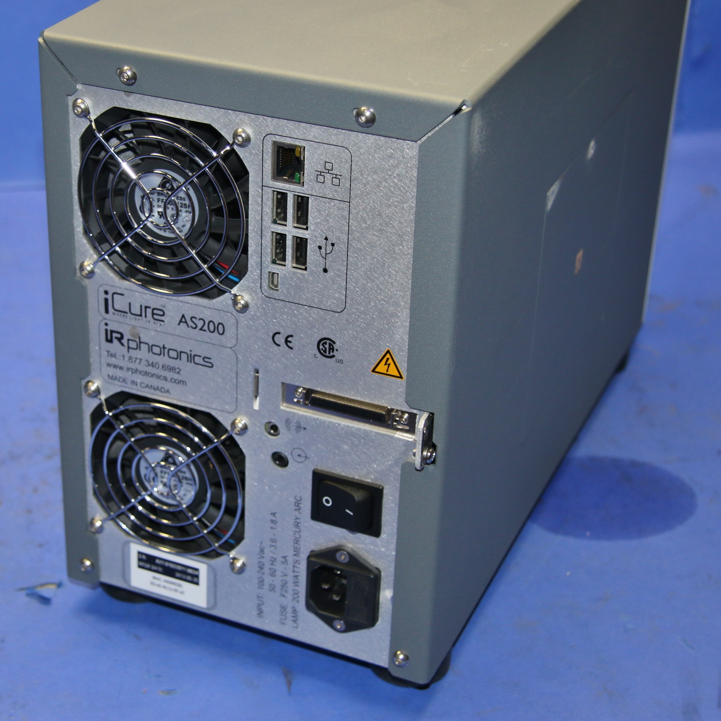(1) UsedI R Photonics  iCure AS200 Infrared Thermal Spot Curing System
