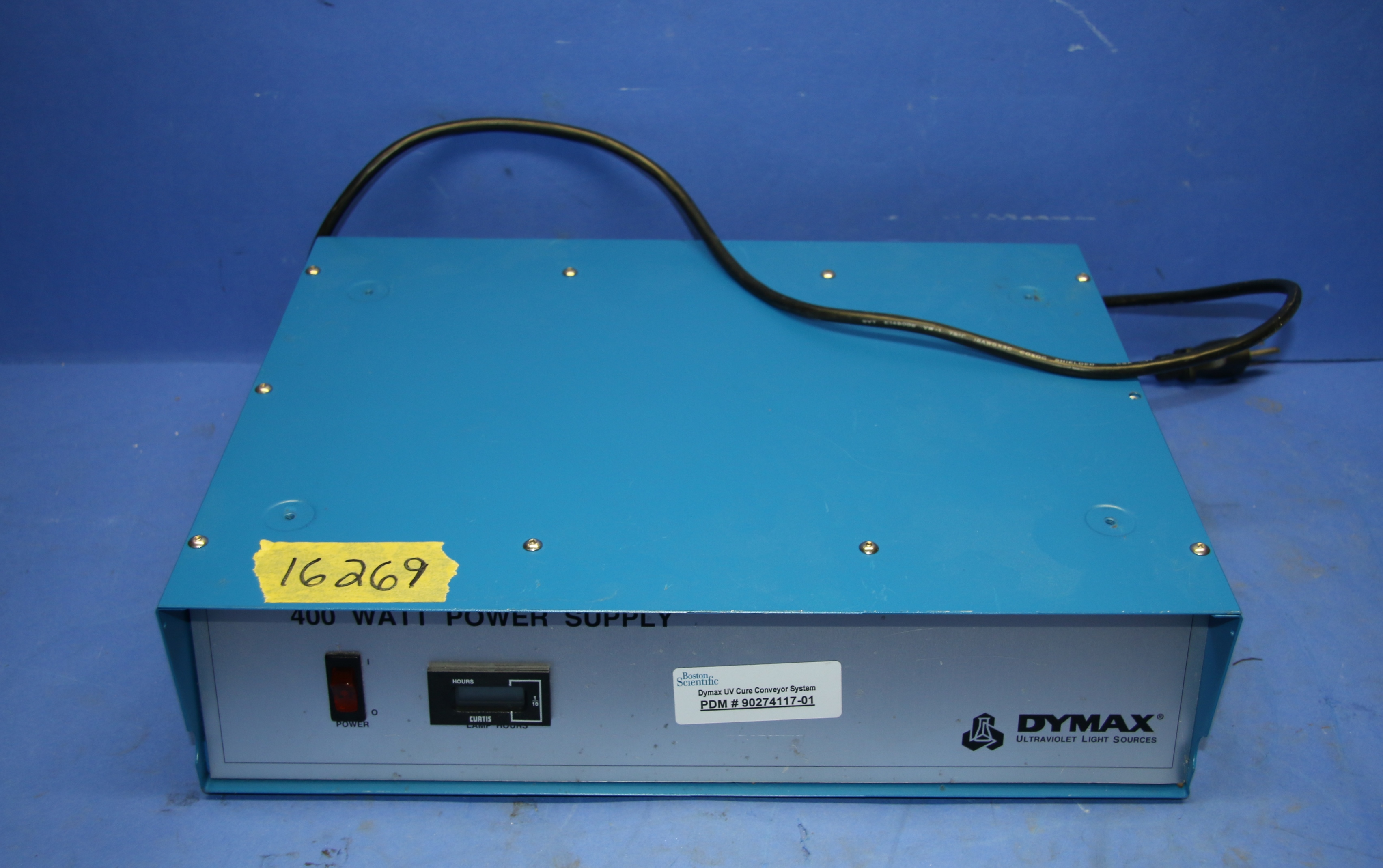 (1) Used Dymax 400W EC Power Supply (1) Used Dymax 1200-EC Ultraviolet Light Sou