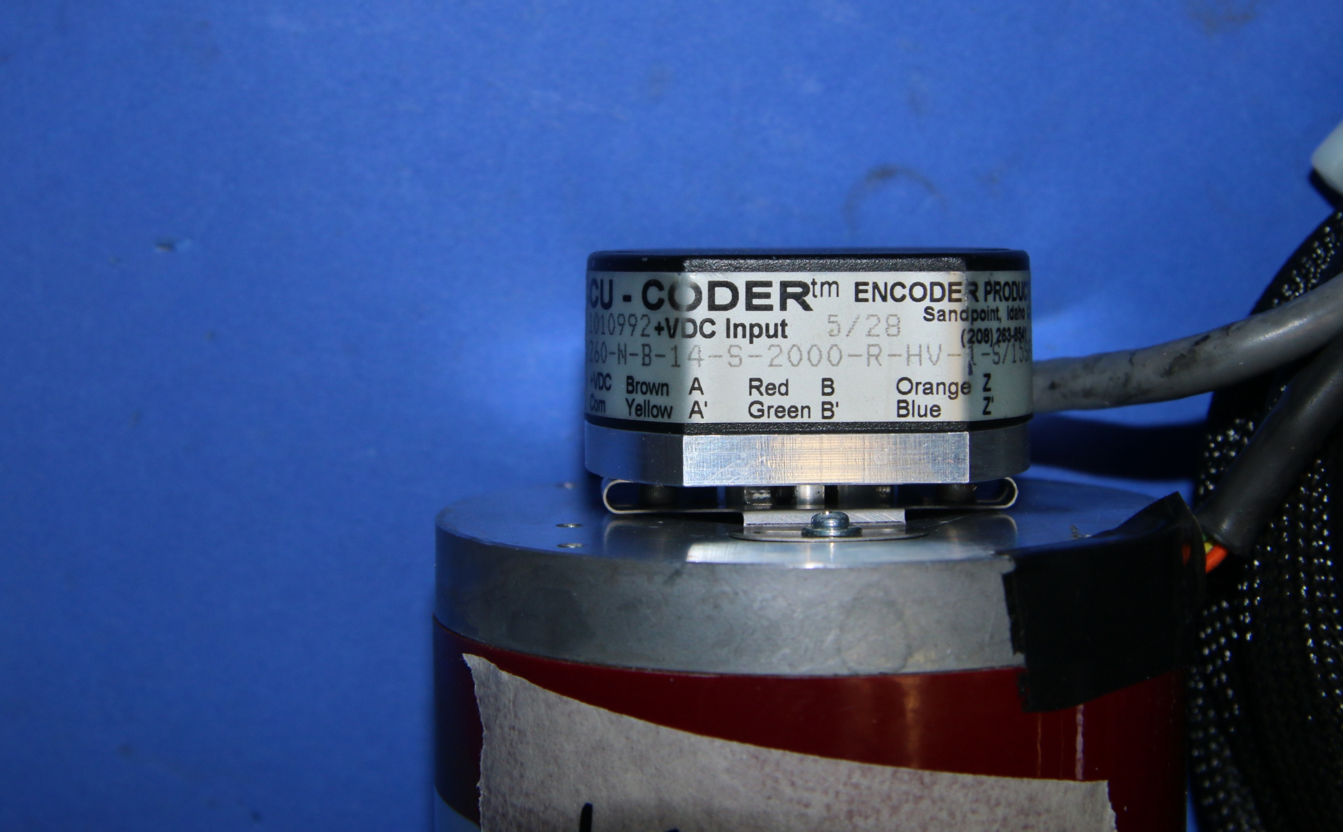 (3) Used Kollmorgen Accu-Coder 260-N-B-14-S-2000-R-HV-1-S/15.00-SF-4N Encoders 1