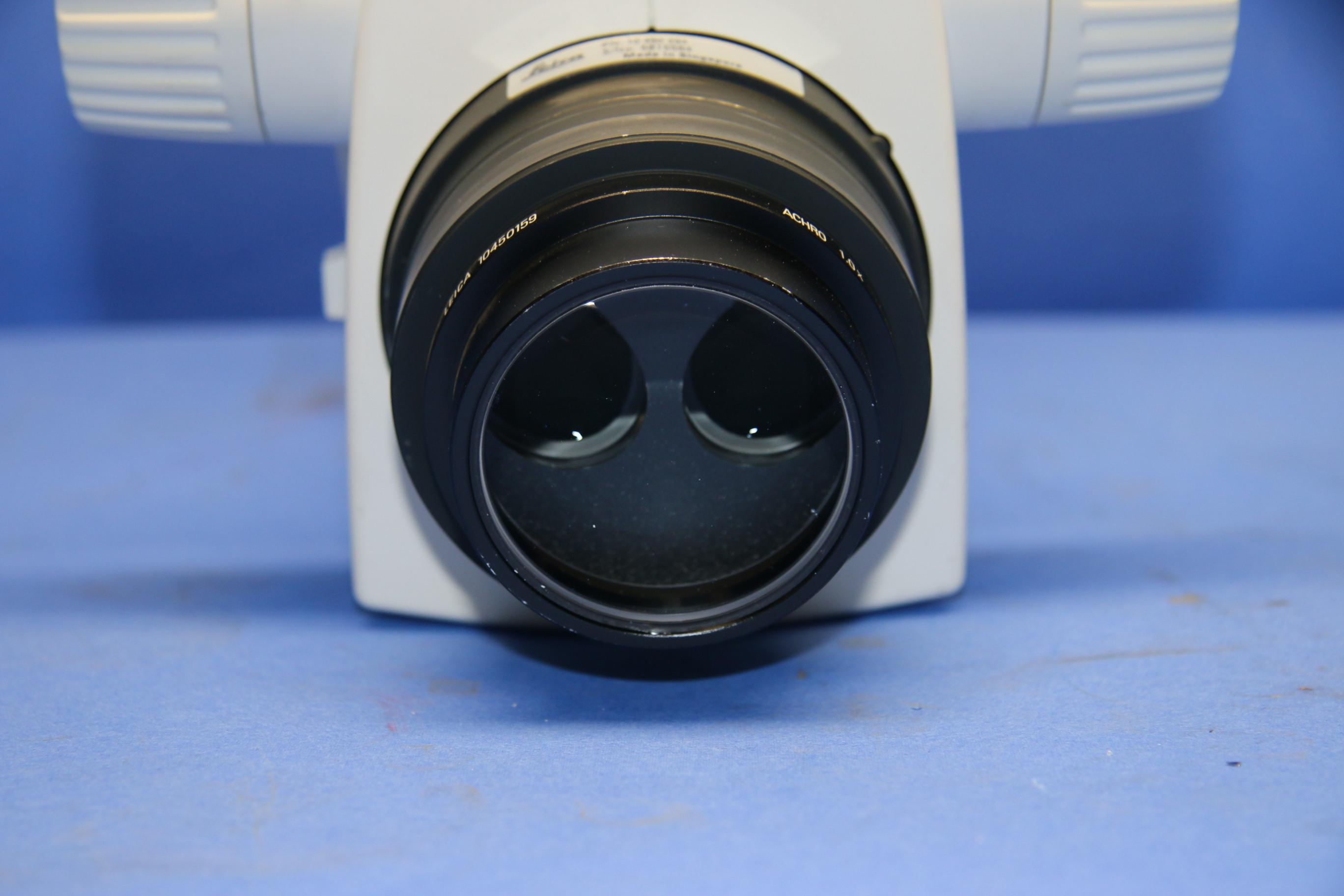 (1) Used Leica M60 Microscope+Lens w/Stereo 45 degree angle head 16433