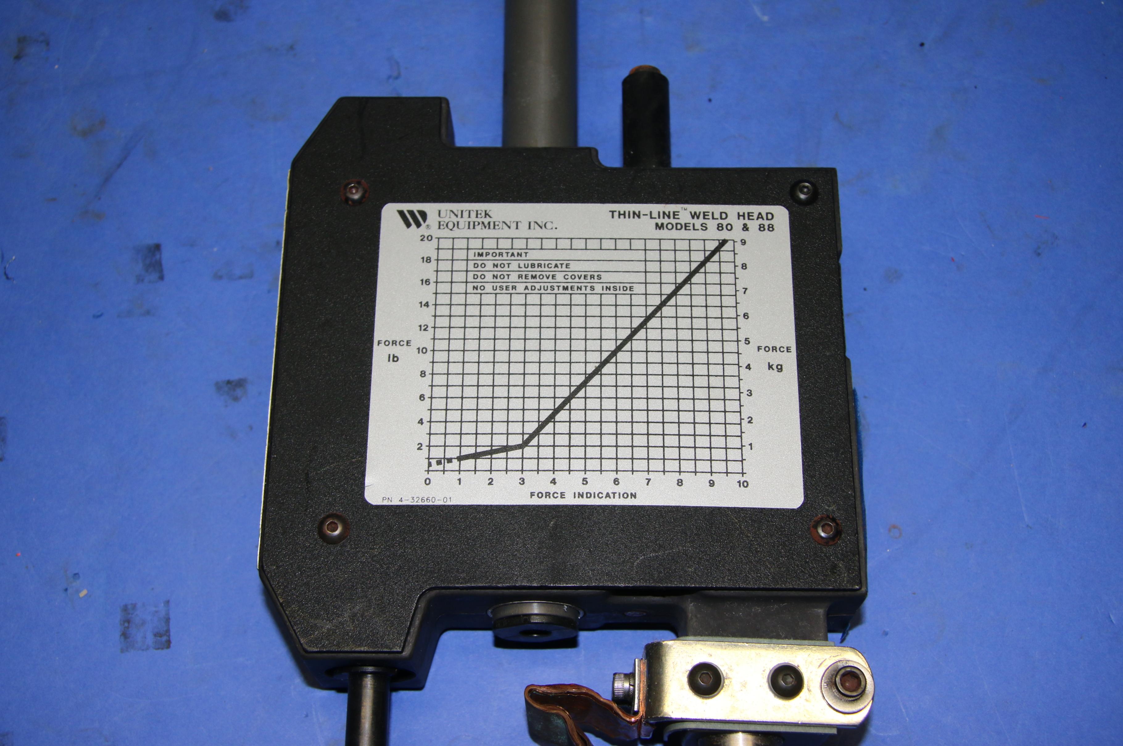 (1) Used Unitek Equipment 2-142-04 Thin Line Welding Head 16582