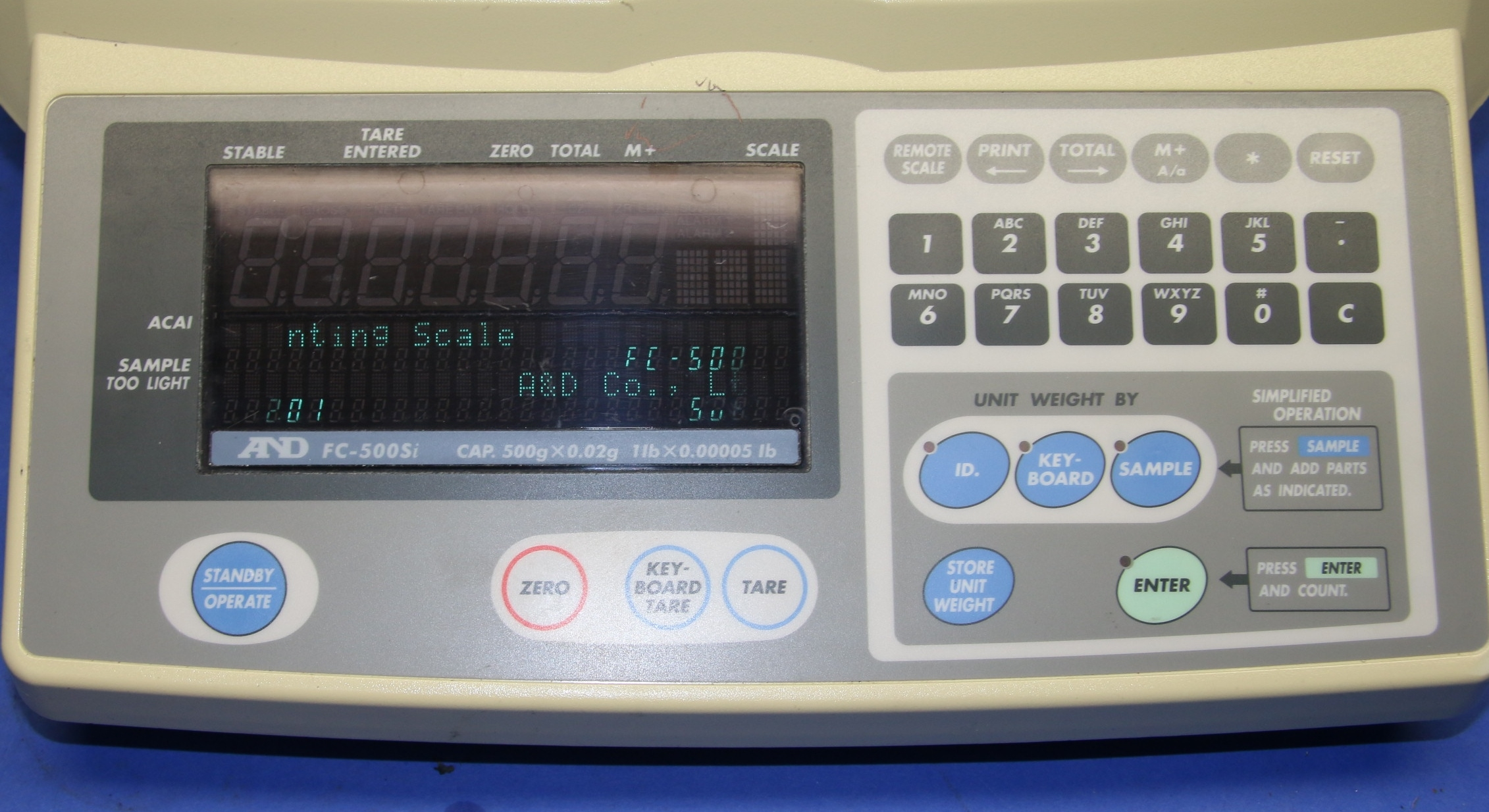 (1) Used A&D FC-500Si Digital Counting Scale 16756
