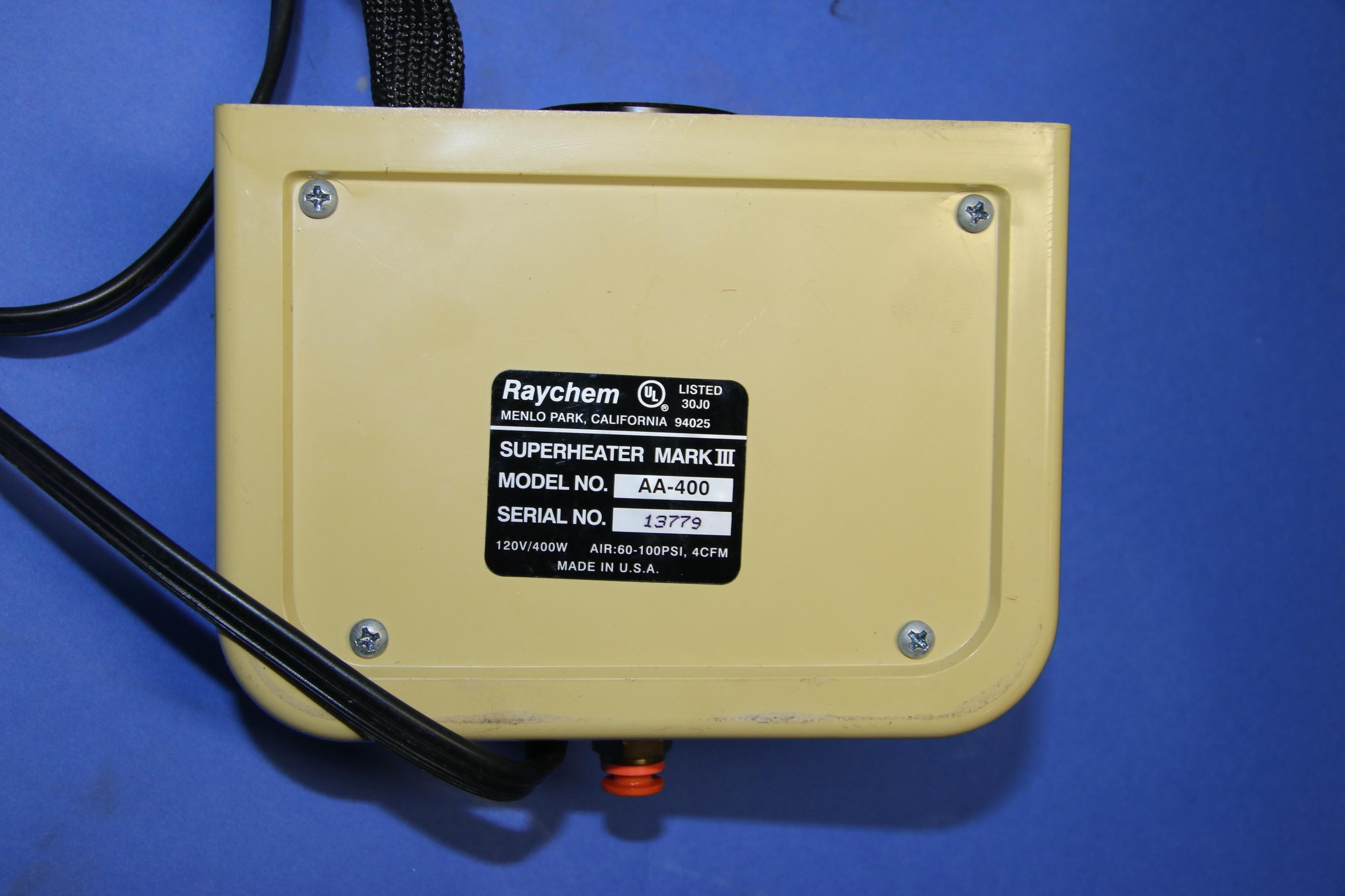 (2) Used Taychem AA-400 Super Heater 16938