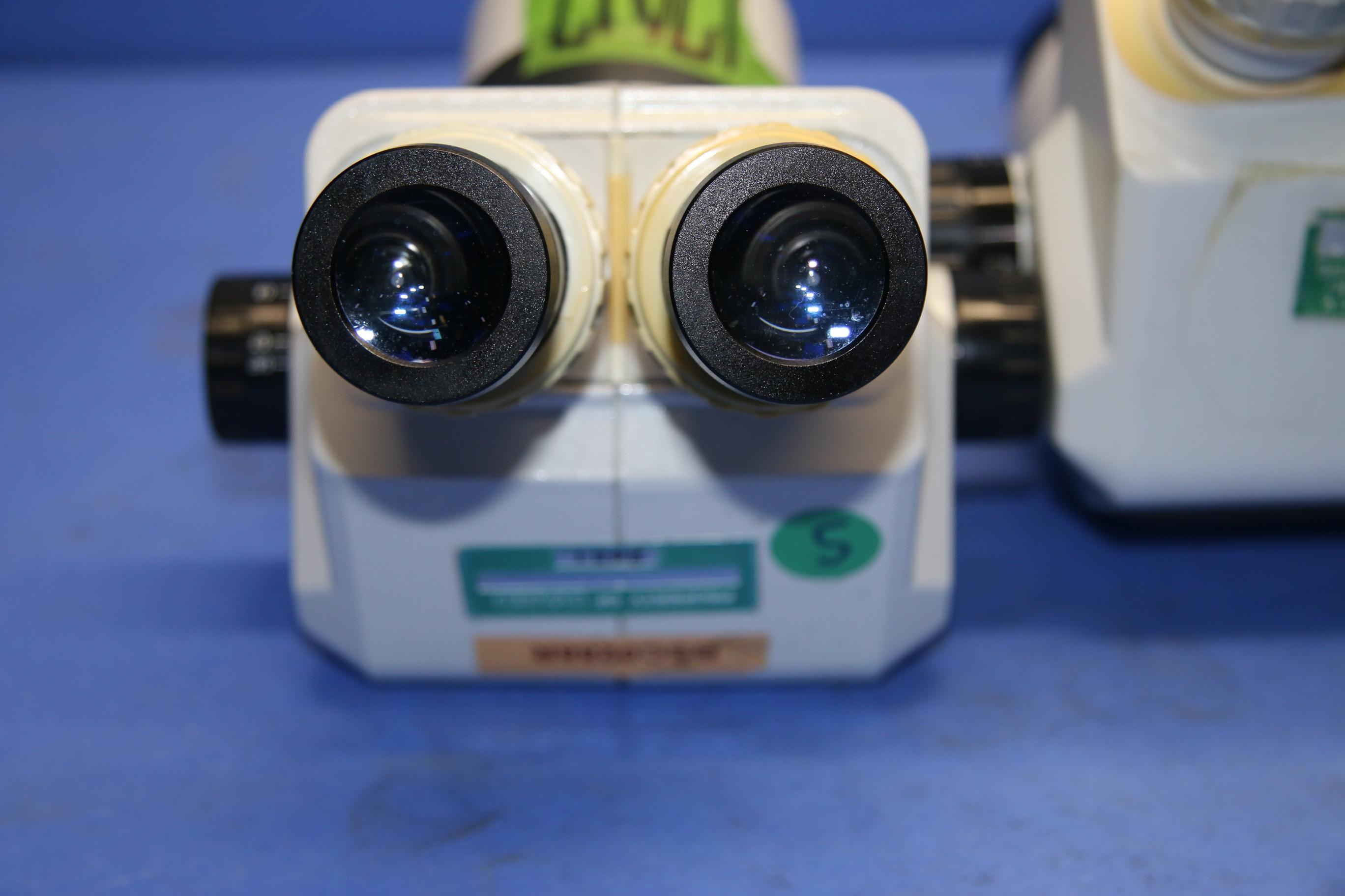 (2) Used Stereo Zoom SZ201101 Binocular Body Microscope 17017