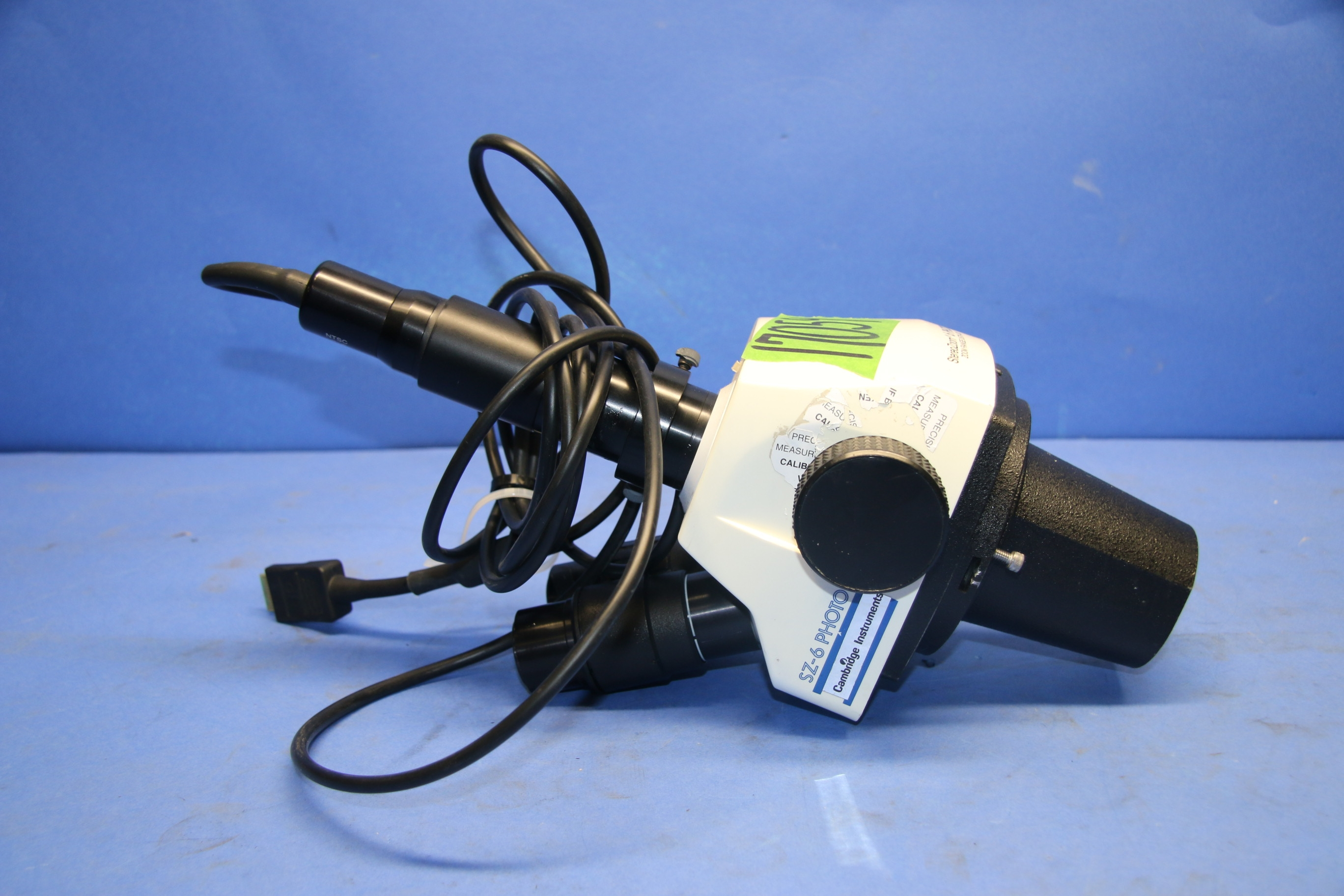 (1) Used StereoZoom SZ-6 Photo Microscope With 42-12-46 TV Adapter 17059