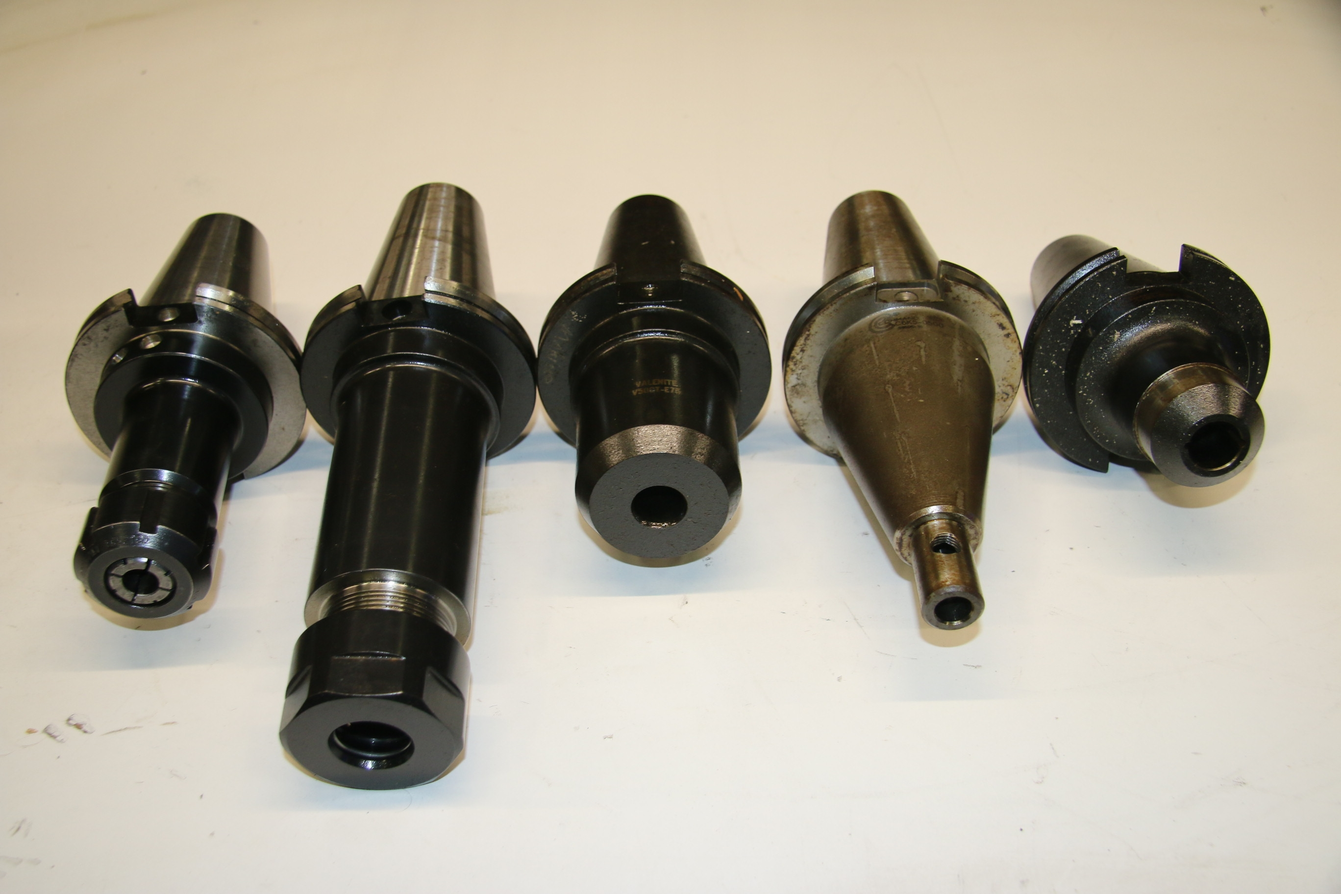 (5) Used Mixed Lot Of Cat 50 Tool Holders 17423