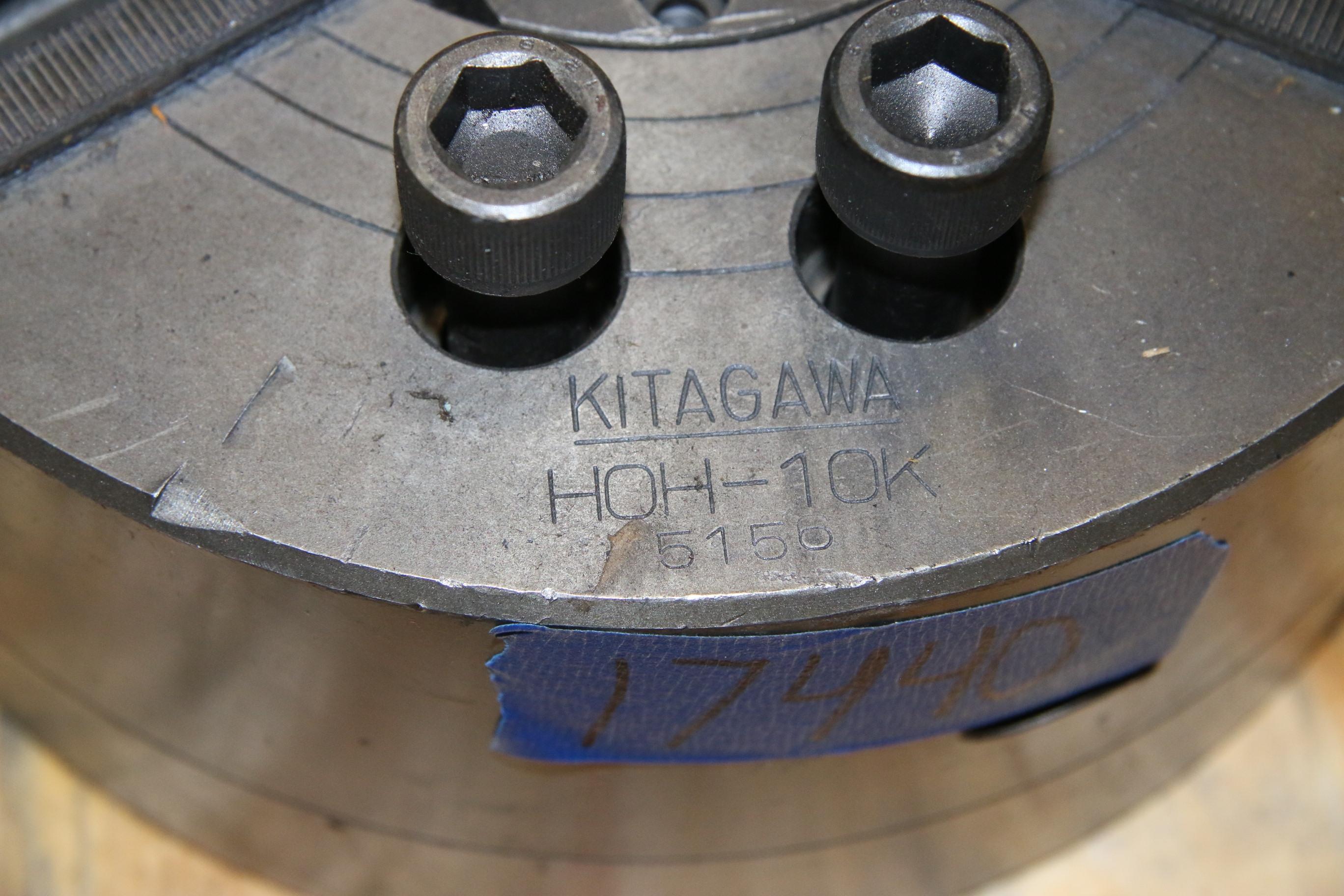 Used Kitagawa HOH-10K 5150 10″ 3 Jaw Chuck 17440