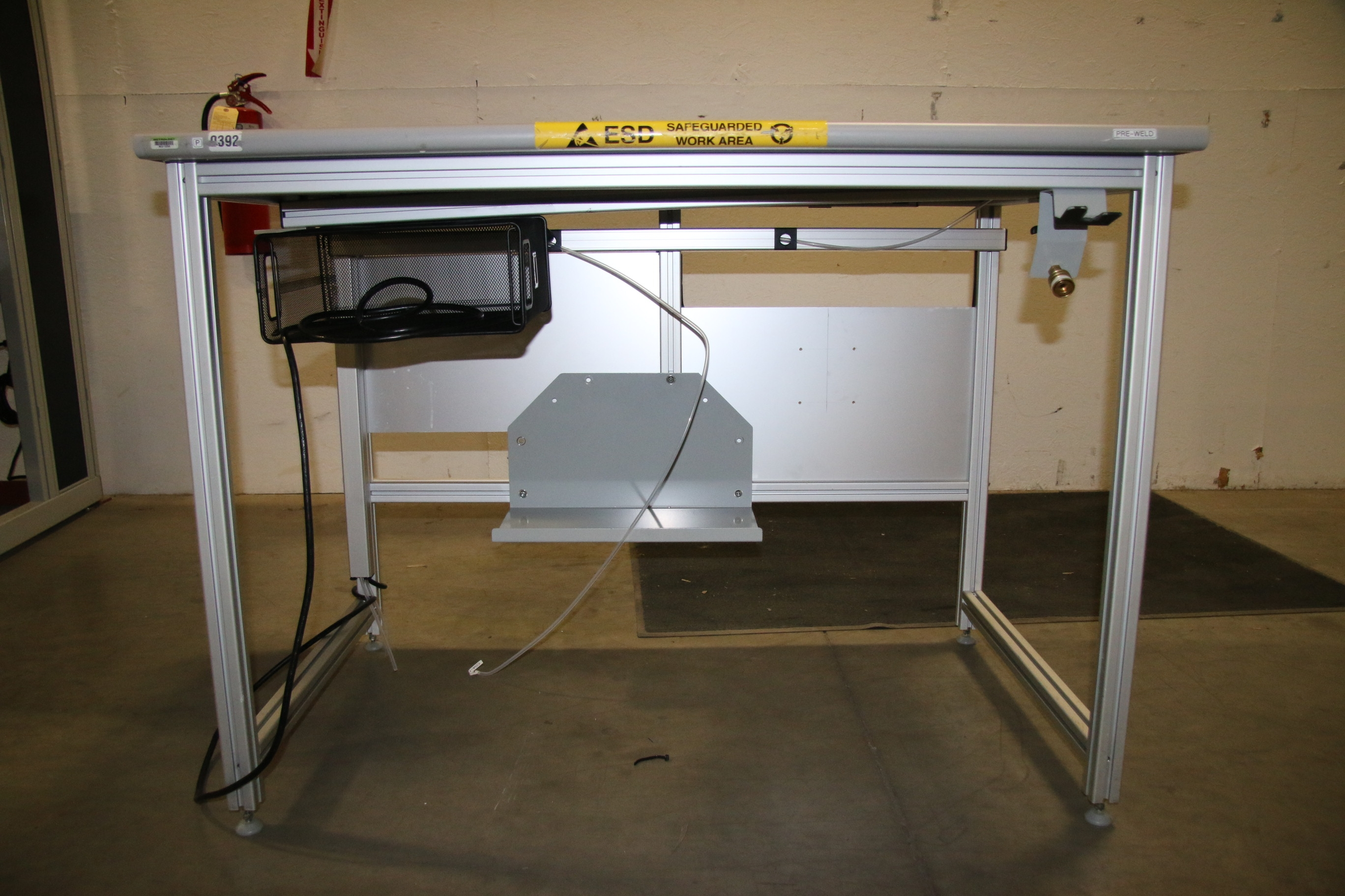 Used 80/20 T-Slotted Aluminum Frame 48″ x 31″ x 36″ Custom Work Bench 17506