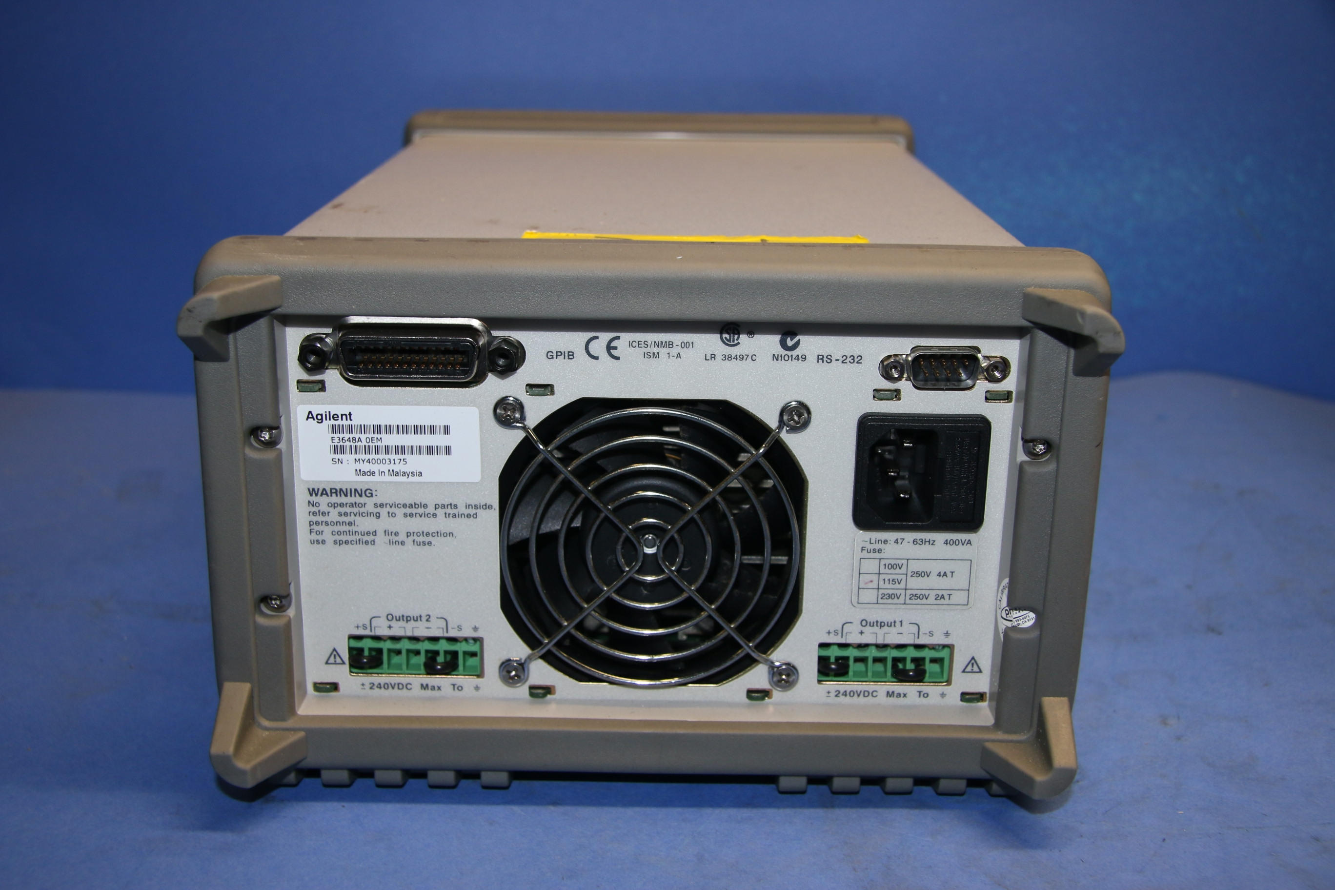Used Keysight Agilent E3648A Dual Output DC Power Supply 17548