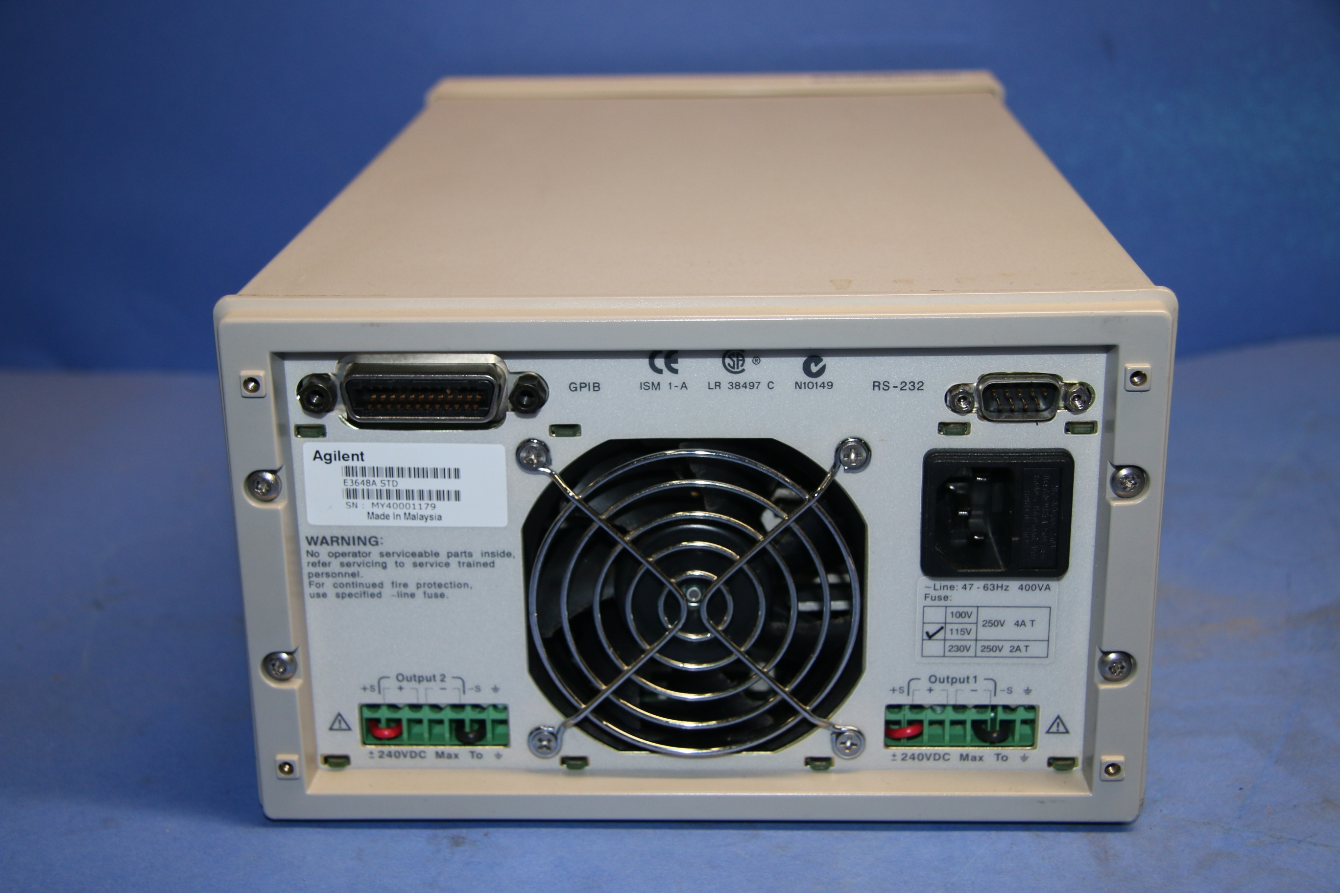 Used Keysight Agilent E3648A Dual Output DC Power Supply 17558