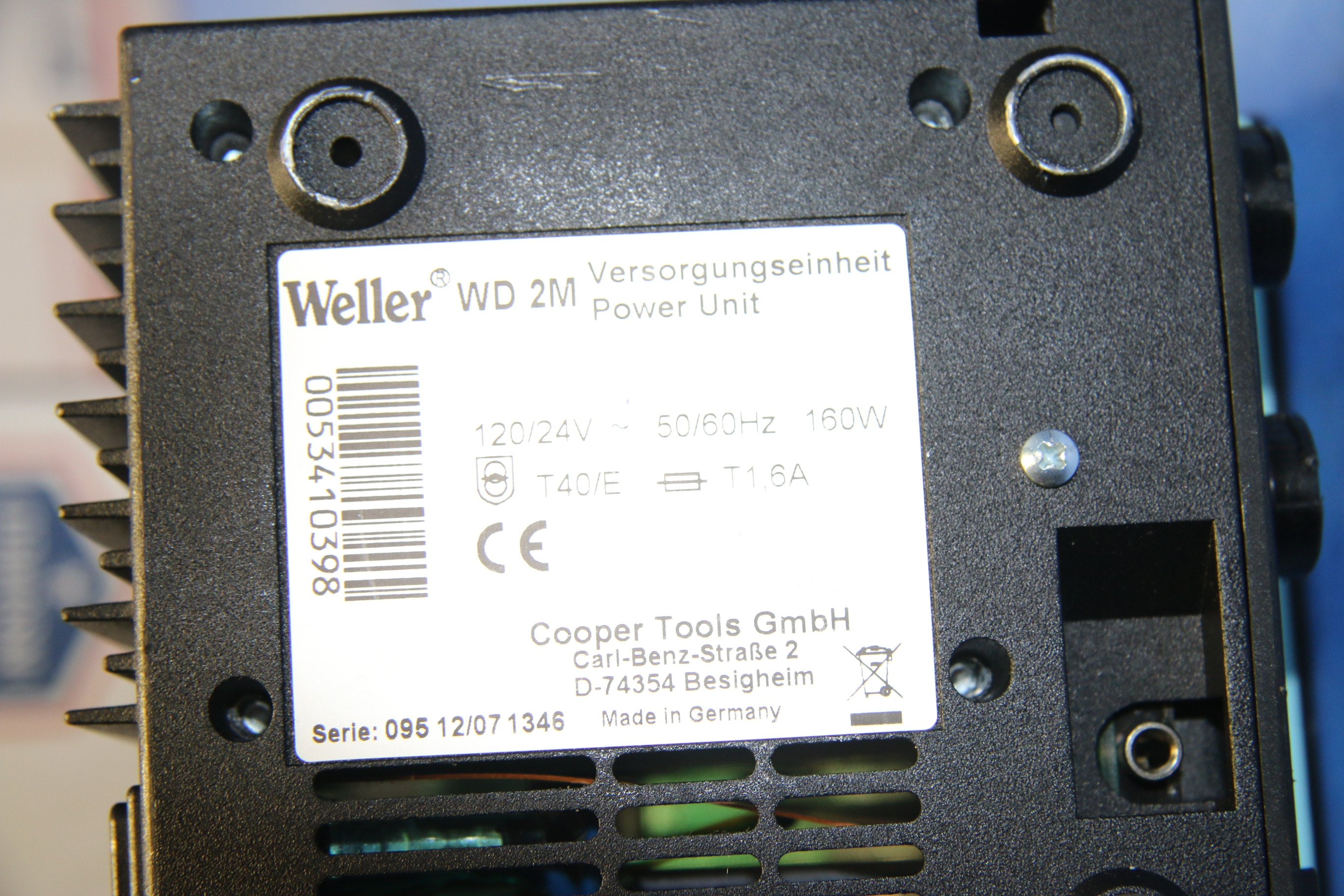 Used Weller WD 2M Soldering System With Power Unit 17602