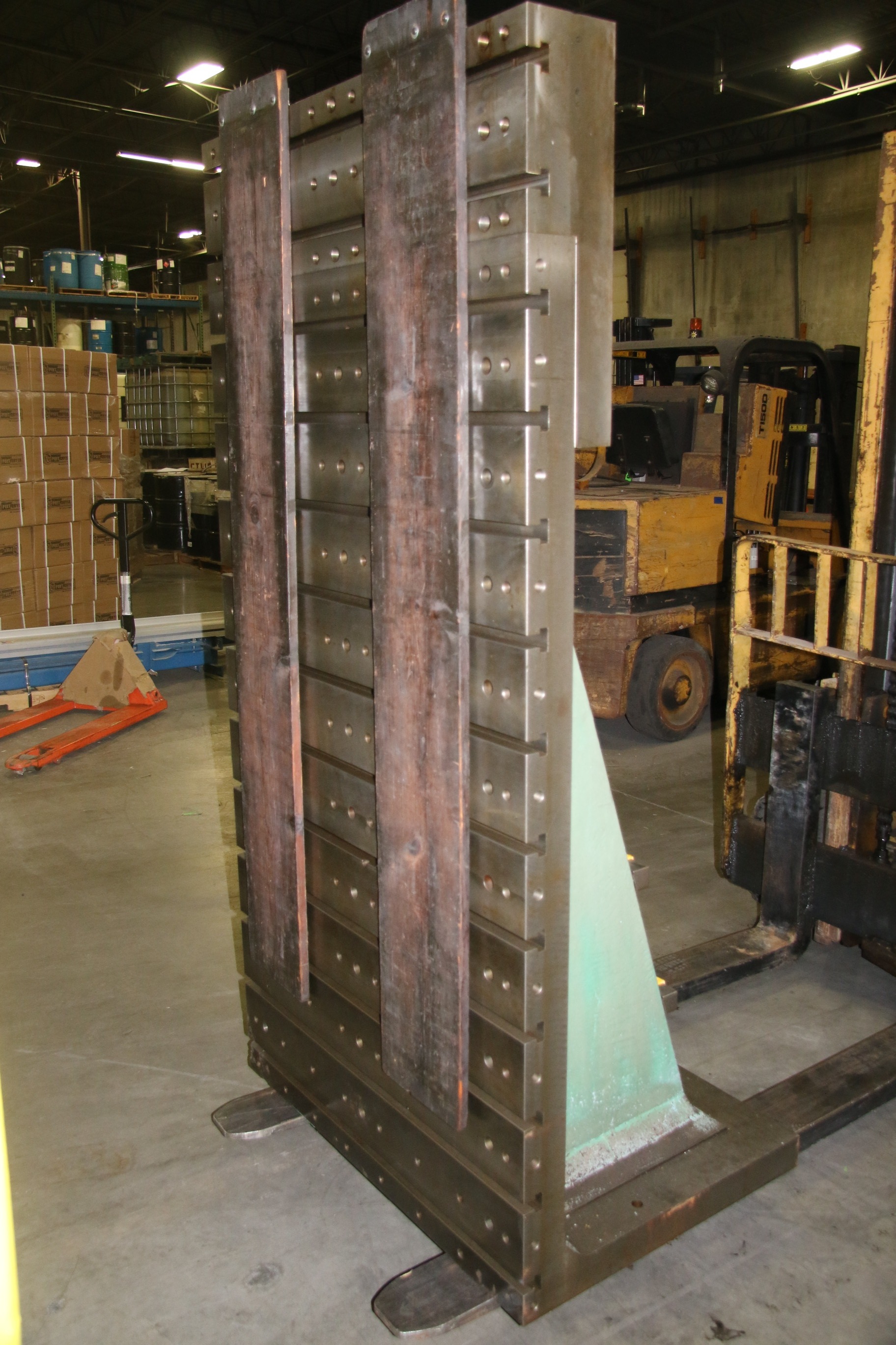 Used T Slotted Angle Plate 41 3/4″ W x 84″ H 17734