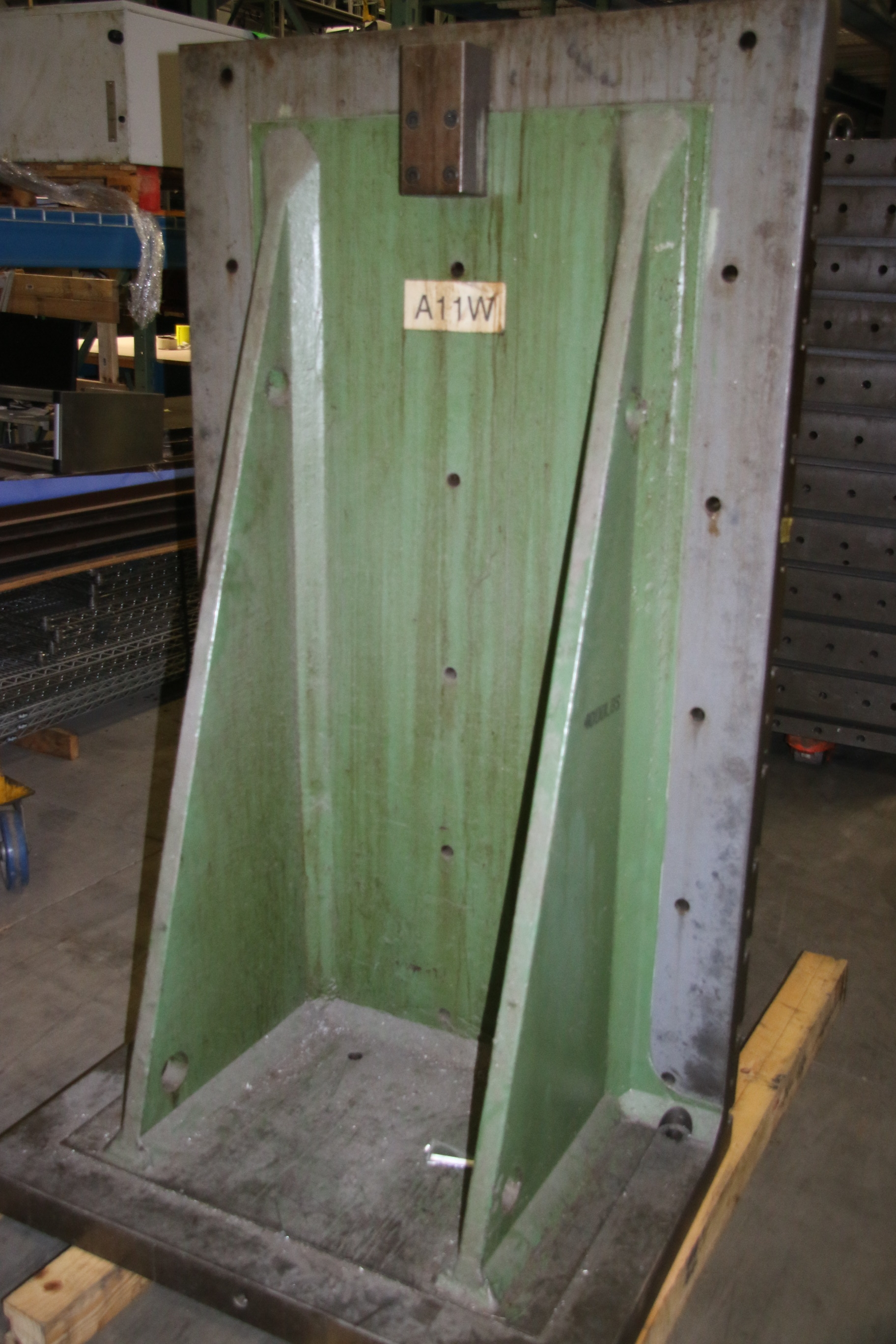 Used T Slotted Angle Plate 41 3/4″ W x 72″ H 17736