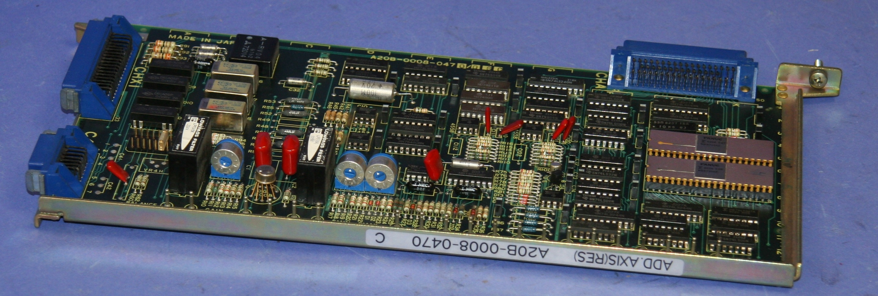(1)Used Fanuc A20B-0008-0470-06C PC Board Add.Axis (Res) 8936