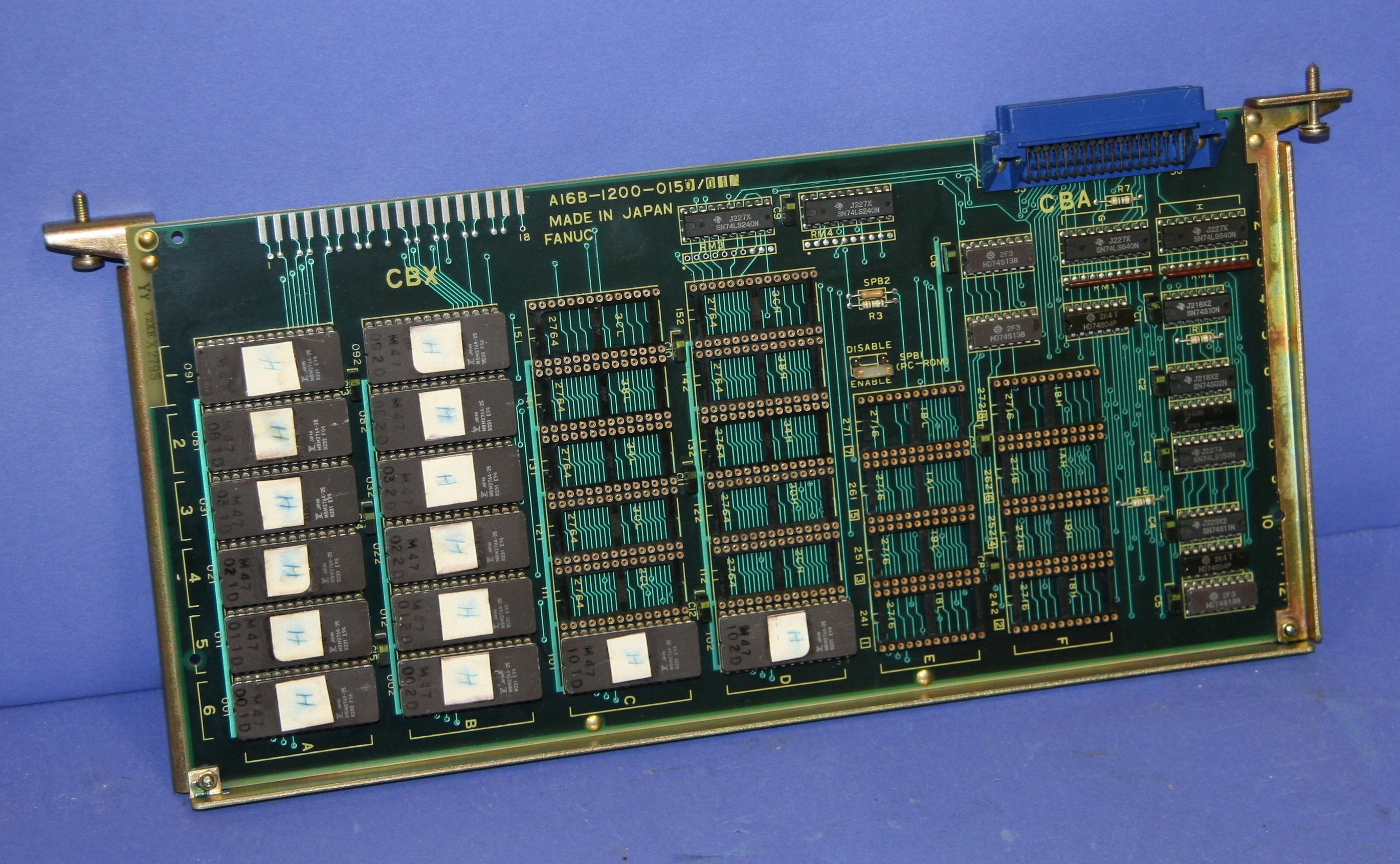 (1) Used Fanuc A16B-1200-0150/01A RC Board with ROM 8937