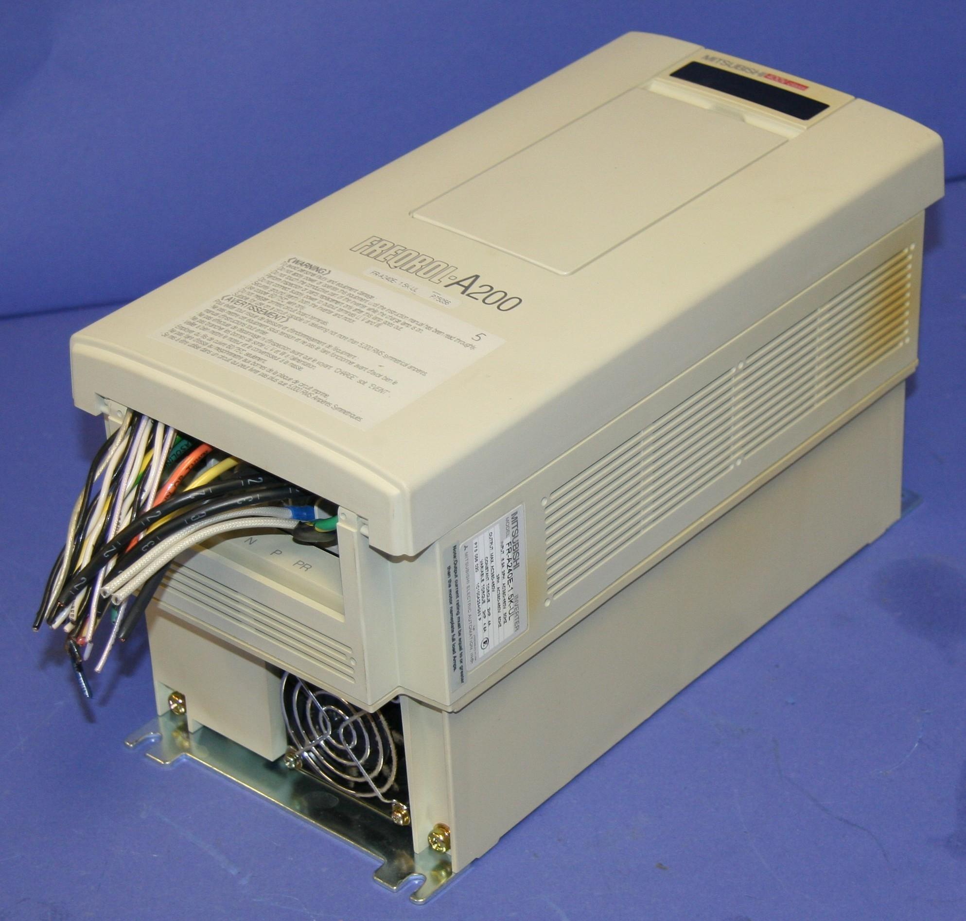 (1) Used Mitsubishi FR-A240E-1.5K-UL Inverter AC380-460V 3 Phase 9386