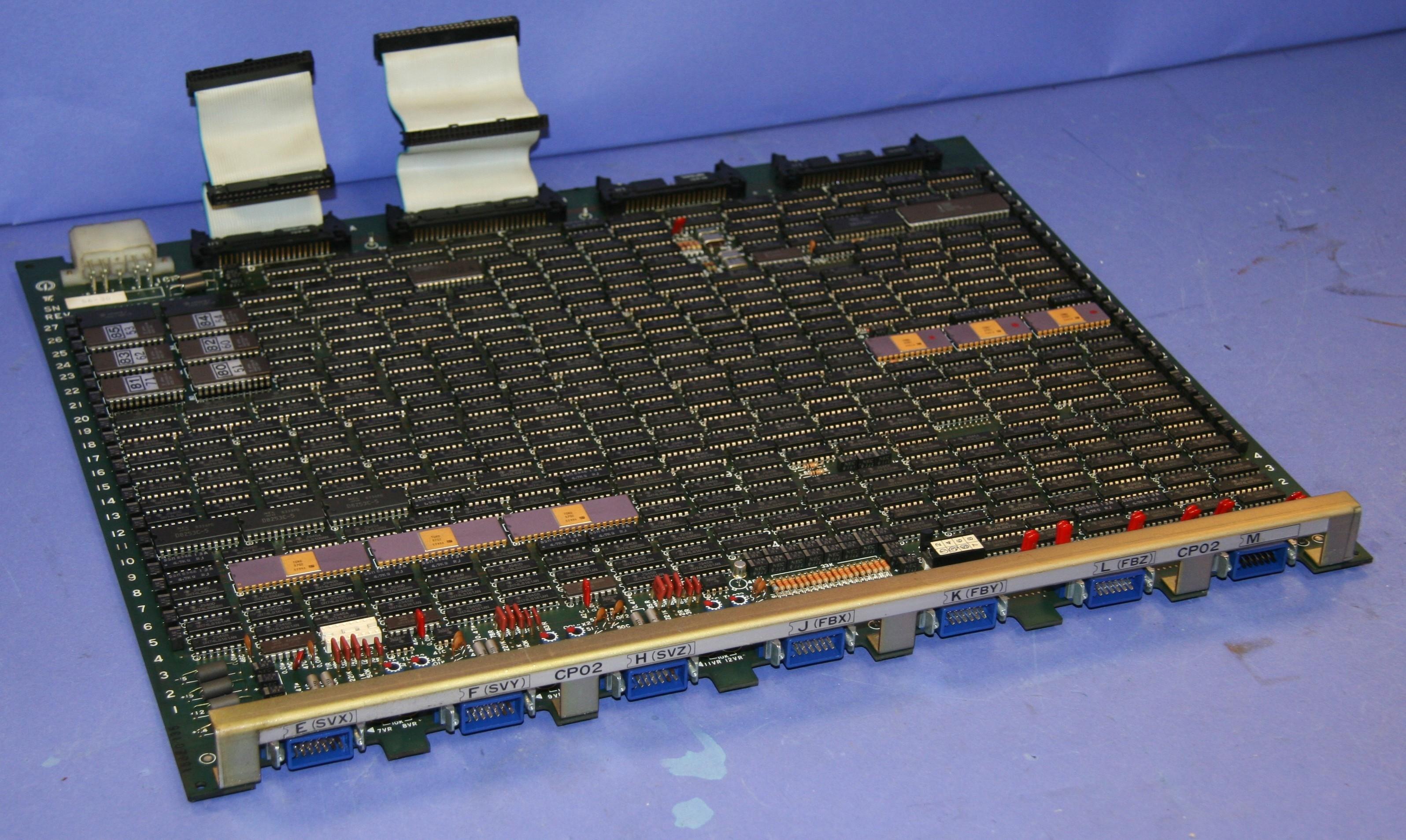(1) Used Yaskawa JANCD-CP02 PC Board CPU Card Rev G 9828