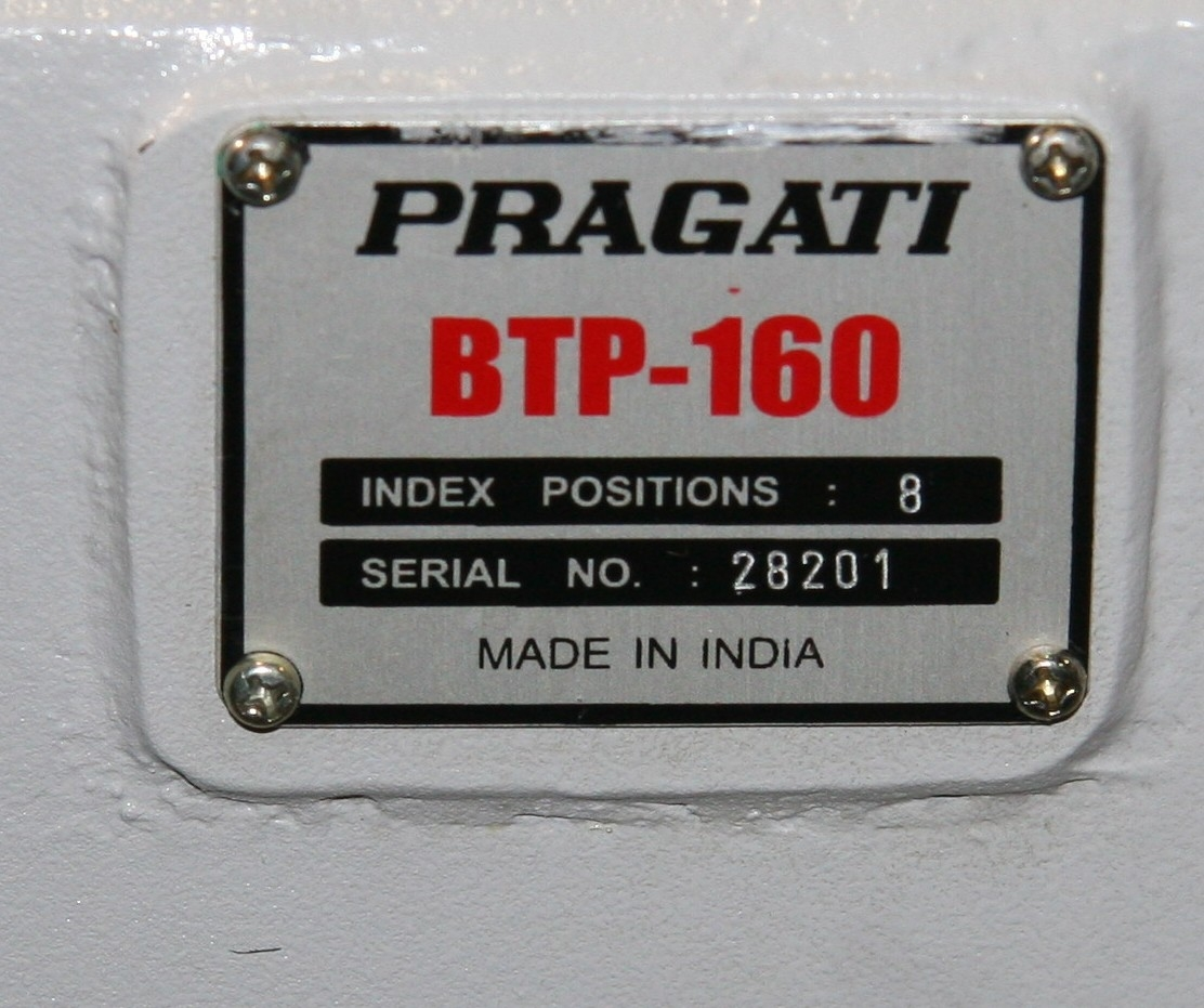 (1) New Other Pragati BTP-160 8 Position Index Tool Turret 9909