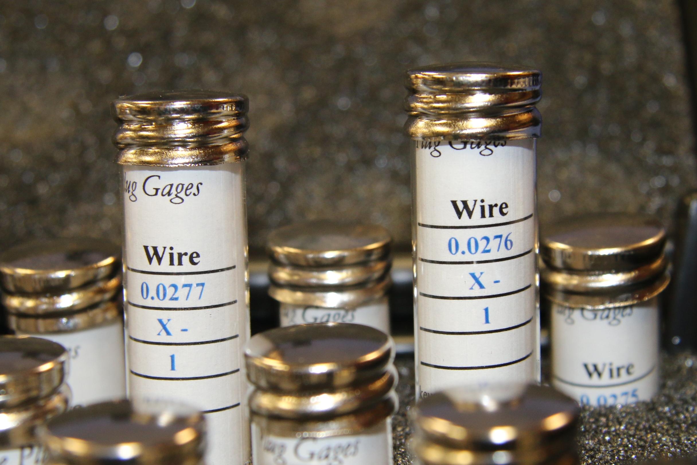 (4) Used Van Keuren .0183 To .0326 Wire Type Plug Gage