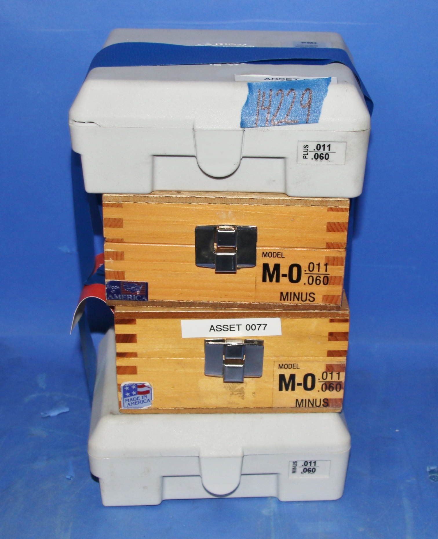 (4) Used Meyer Pin Gage Sets Sold As Is